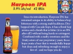 Harpoon shelf talker