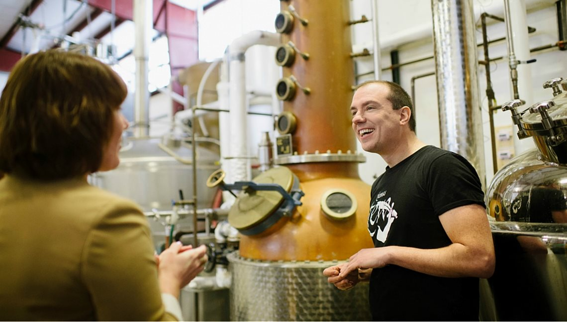 Brent Ryan of Newport Craft Distilling Co.