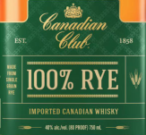 New! Canadian Club 100% Rye Whisky